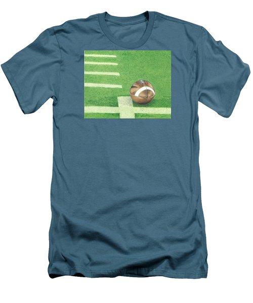 Men's T-Shirt (Slim Fit) featuring the drawing First Down by Troy Levesque