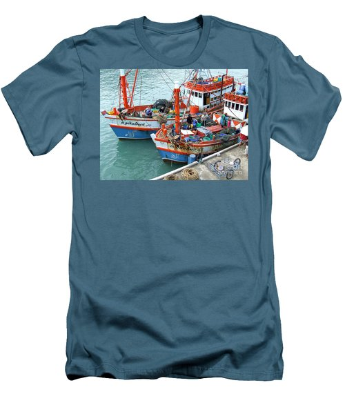 Men's T-Shirt (Slim Fit) featuring the photograph Fisherman by Andrea Anderegg