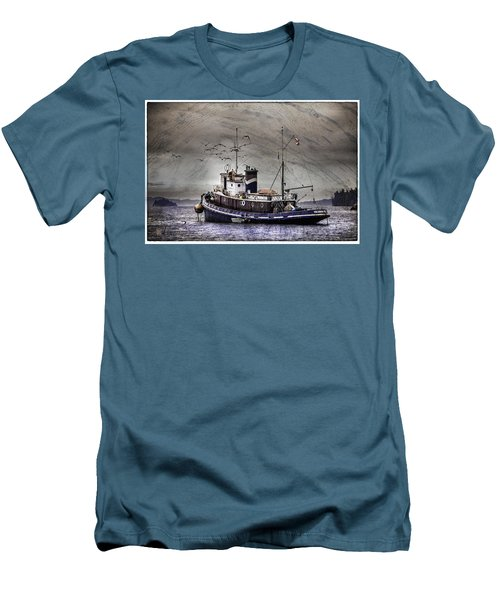 Fishing Boat Men's T-Shirt (Slim Fit) by Peter v Quenter