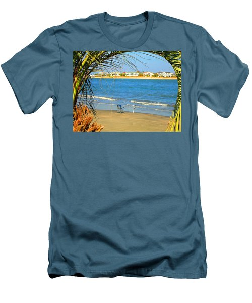 Fishing Paradise At The Beach By Jan Marvin Studios Men's T-Shirt (Athletic Fit)