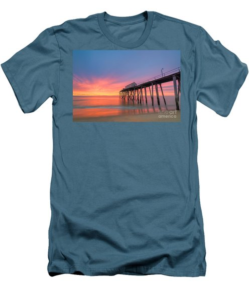 Fishing Pier Sunrise Men's T-Shirt (Athletic Fit)
