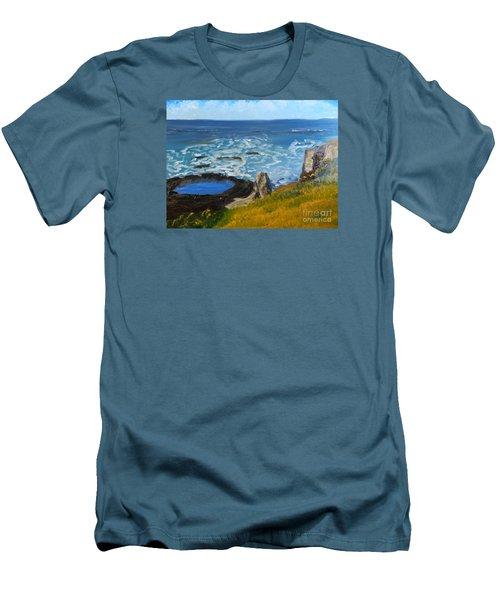 Flagstaff Point  Men's T-Shirt (Slim Fit) by Pamela  Meredith