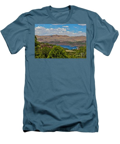 Men's T-Shirt (Slim Fit) featuring the photograph Flaming Gorge by Janice Rae Pariza
