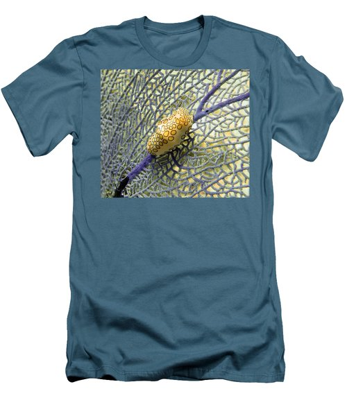 Flamingo Tongue Snail On Purple Fan Coral Men's T-Shirt (Athletic Fit)