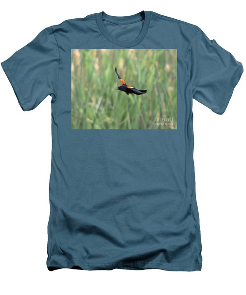 Flight Of The Blackbird Men's T-Shirt (Athletic Fit)