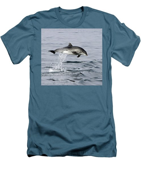 Flight Of The Dolphin Men's T-Shirt (Slim Fit) by Shoal Hollingsworth