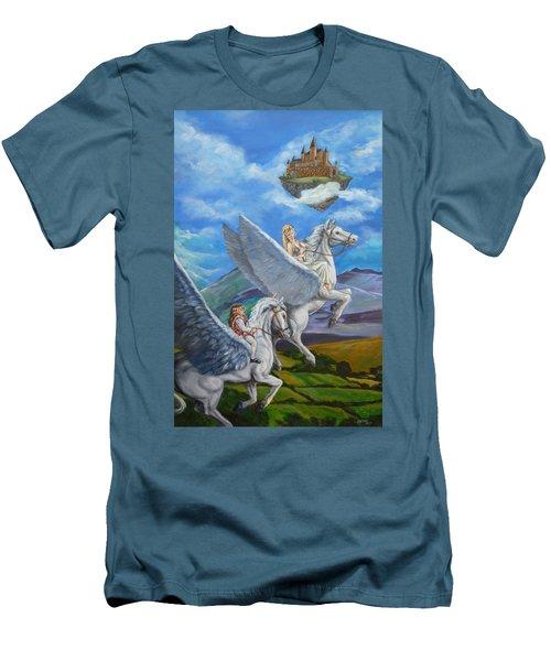 Flights Of Fancy Men's T-Shirt (Slim Fit) by Bryan Bustard