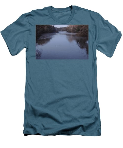 Men's T-Shirt (Slim Fit) featuring the photograph Flint River 1 by Kim Pate