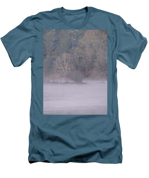 Men's T-Shirt (Slim Fit) featuring the pyrography Flint River 10 by Kim Pate