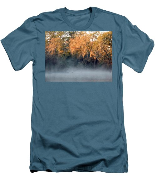 Men's T-Shirt (Slim Fit) featuring the photograph Flint River 14 by Kim Pate
