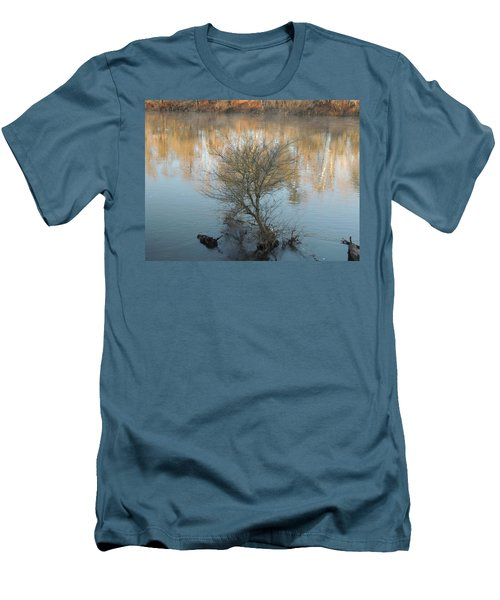 Men's T-Shirt (Slim Fit) featuring the photograph Flint River 24 by Kim Pate
