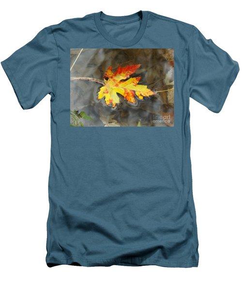 Floating Autumn Leaf Men's T-Shirt (Athletic Fit)