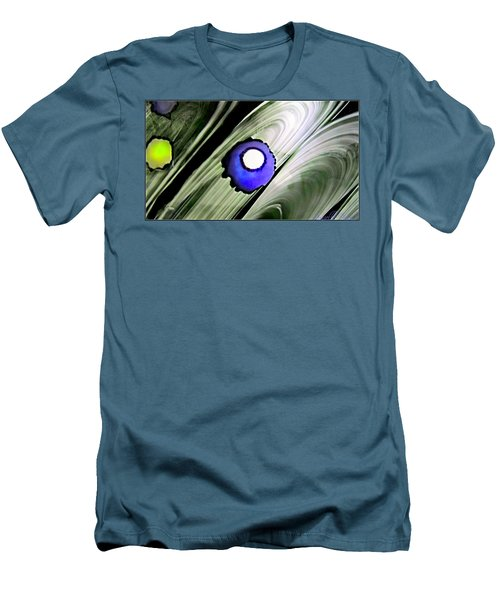 Floating Dot Abstract Alcohol Inks Men's T-Shirt (Athletic Fit)