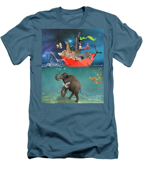 Floating Zoo Men's T-Shirt (Athletic Fit)