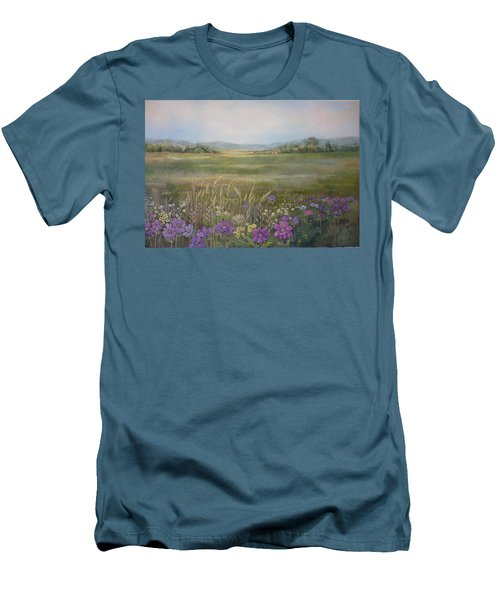 Flower Field Men's T-Shirt (Athletic Fit)
