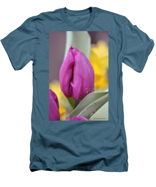 Flower In The Spring Men's T-Shirt (Slim Fit) by Miguel Winterpacht
