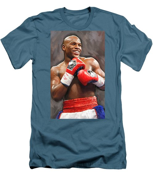Floyd Mayweather Artwork Men's T-Shirt (Slim Fit)