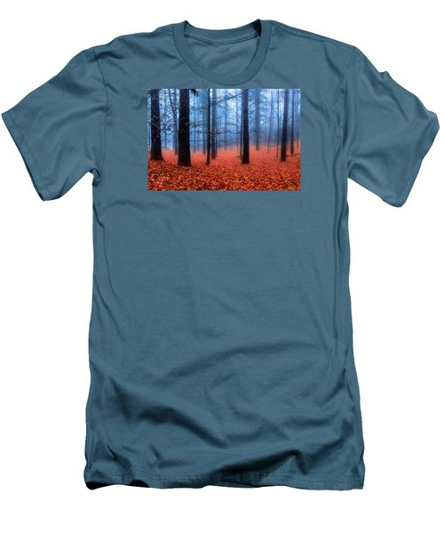 Fog On Leaves Men's T-Shirt (Slim Fit) by Edgar Laureano