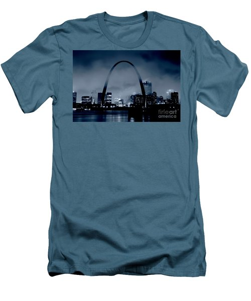 Fog Over St Louis Monochrome Men's T-Shirt (Athletic Fit)