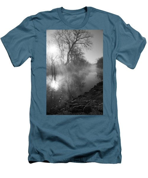 Foggy River Morning Sunrise Men's T-Shirt (Athletic Fit)