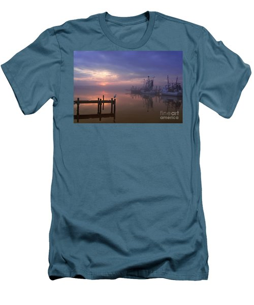 Foggy Sunset Over Swansboro Men's T-Shirt (Athletic Fit)