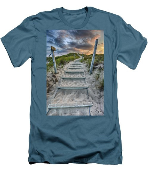 Men's T-Shirt (Athletic Fit) featuring the photograph Follow The Path by Sebastian Musial
