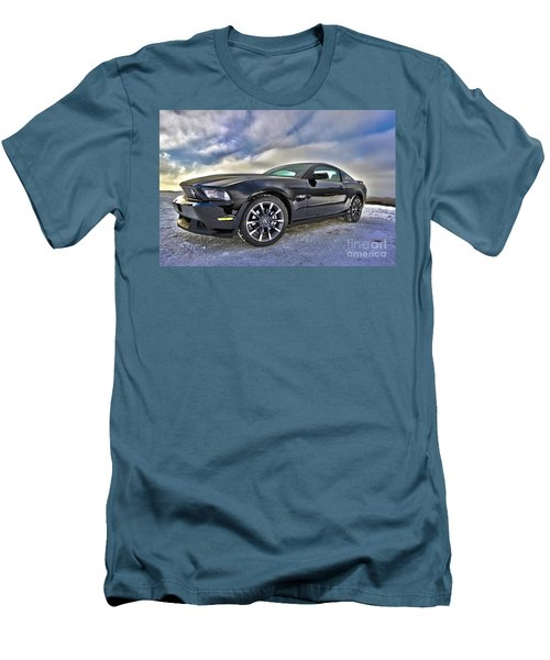 Men's T-Shirt (Slim Fit) featuring the photograph ford mustang car HDR by Paul Fearn
