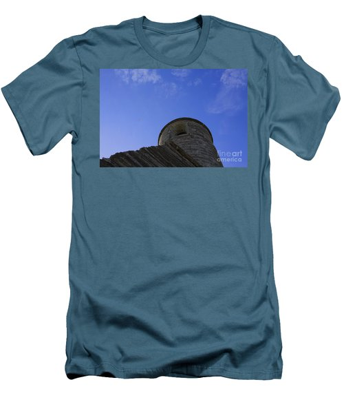 Men's T-Shirt (Slim Fit) featuring the pyrography Fort Tower by Chris Thomas