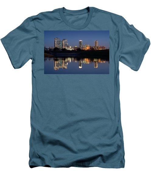 Fort Worth Skyline 020915 Men's T-Shirt (Athletic Fit)