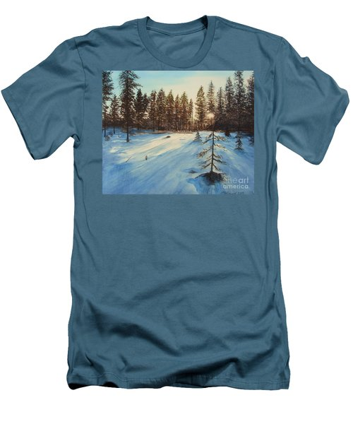 Freezing Forest Men's T-Shirt (Slim Fit) by Martin Howard