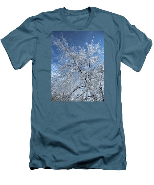 Men's T-Shirt (Slim Fit) featuring the photograph Freezing Rain ... by Juergen Weiss