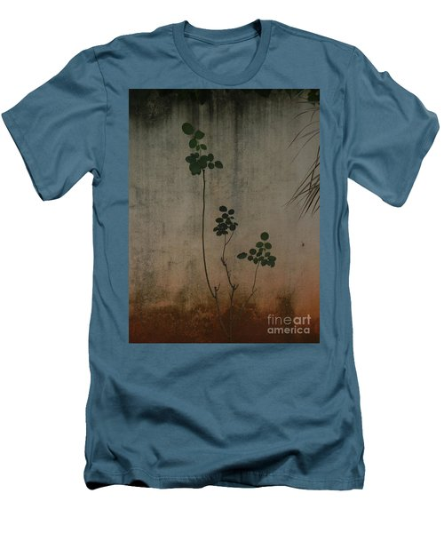 Friendless Rose Bush Men's T-Shirt (Slim Fit) by Mini Arora
