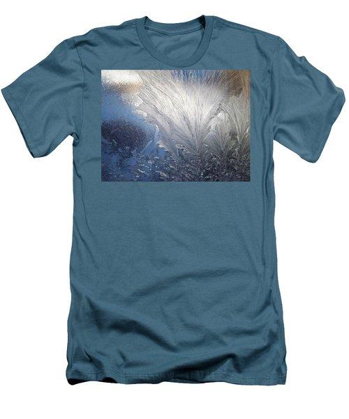 Men's T-Shirt (Slim Fit) featuring the photograph Frost Ferns by Joy Nichols