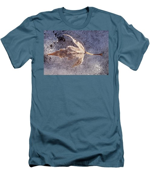 Frozen Leaf Men's T-Shirt (Slim Fit) by Richard Bryce and Family
