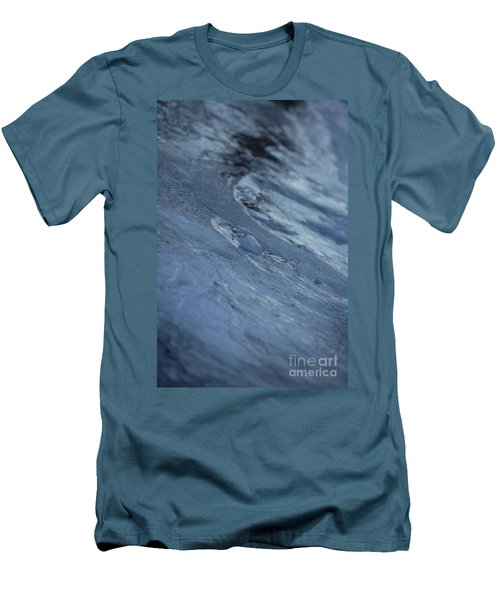Men's T-Shirt (Slim Fit) featuring the photograph Frozen Wave by First Star Art