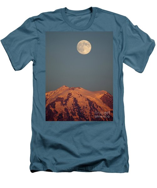 Full Moon Over Mount Rainier Men's T-Shirt (Athletic Fit)