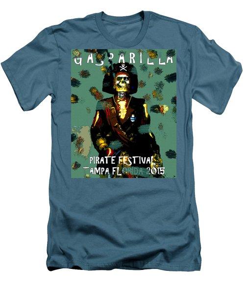 Gasparilla Pirate Fest 2015 Full Work Men's T-Shirt (Slim Fit) by David Lee Thompson
