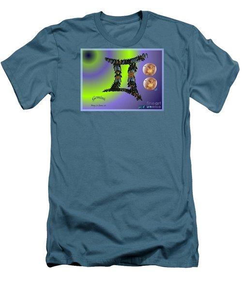 Men's T-Shirt (Slim Fit) featuring the digital art Gemini by The Art of Alice Terrill