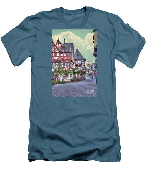 German Village Along Rhine River Men's T-Shirt (Athletic Fit)