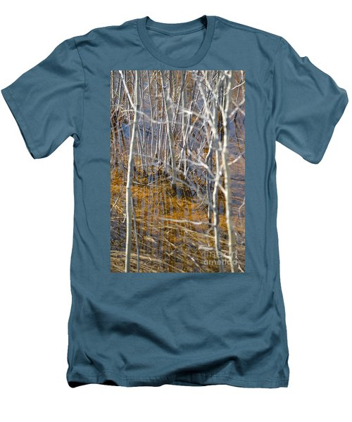 Men's T-Shirt (Slim Fit) featuring the photograph Ghost Willows by Brian Boyle