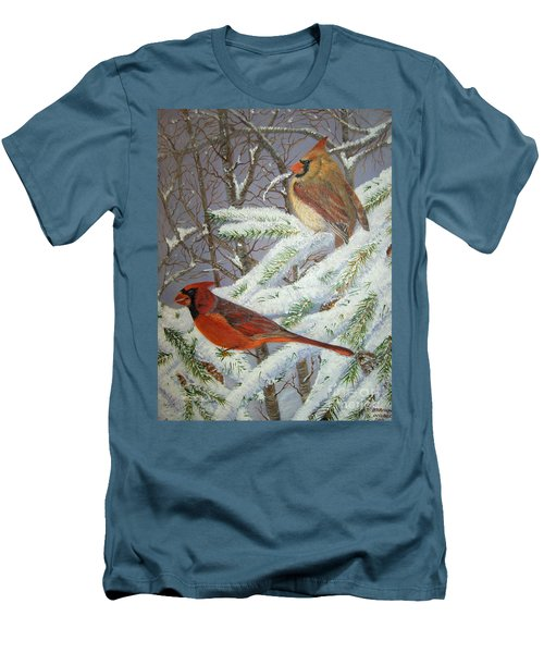 Men's T-Shirt (Slim Fit) featuring the painting Give Her Wings To Fly by Brenda Brown