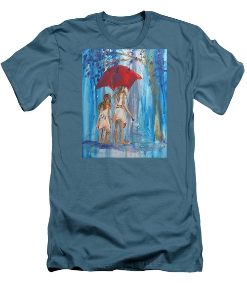 Give Me Shelter Men's T-Shirt (Slim Fit) by Terri Einer