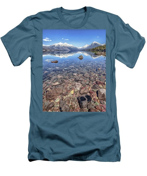 Glacial Lake Mcdonald Men's T-Shirt (Slim Fit)