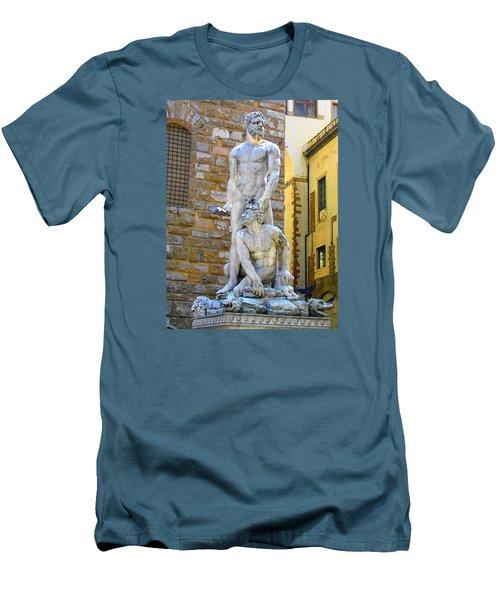 Glance At Hercules And Casus Men's T-Shirt (Slim Fit) by Oleg Zavarzin