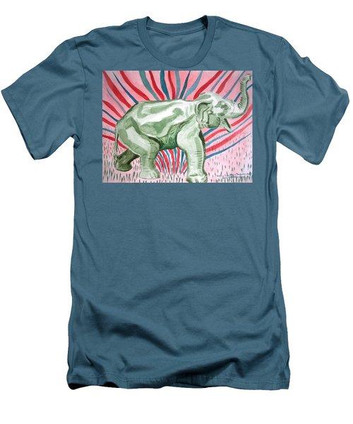 Gleeful Elephant Men's T-Shirt (Athletic Fit)
