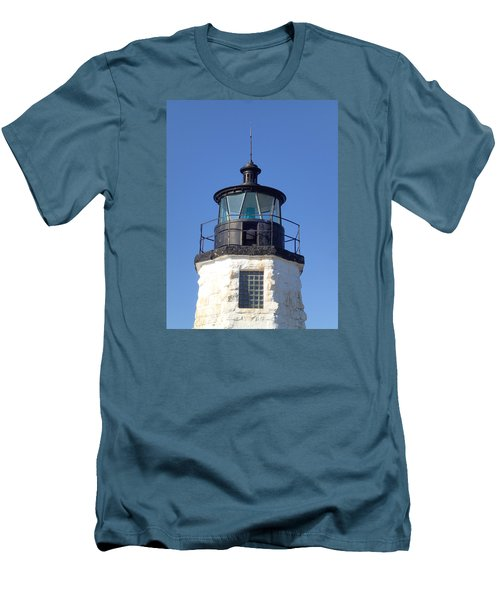 Goat Island Lighthouse Men's T-Shirt (Athletic Fit)