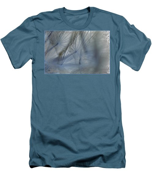 Men's T-Shirt (Slim Fit) featuring the photograph Goat's Beard Seed Macro by Sandra Foster