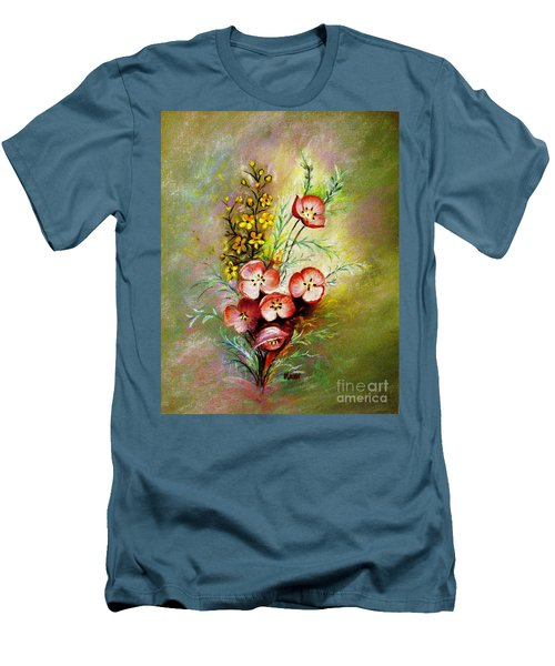 Men's T-Shirt (Slim Fit) featuring the pastel God's Smile by Hazel Holland