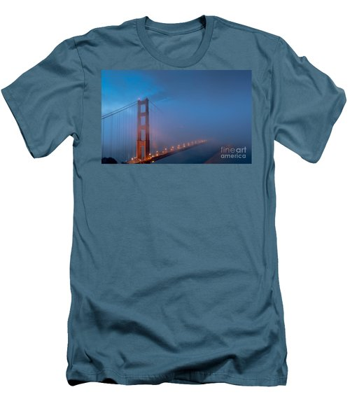 Golden Gate At Blue Hour Men's T-Shirt (Athletic Fit)
