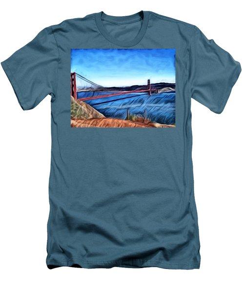 Windy Day At Golden Gate Bridge Men's T-Shirt (Athletic Fit)